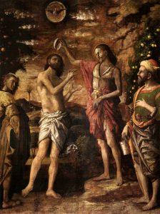 "Andrea Mantegna (c.1431–1506), ""The Baptism of Christ,"" Church of Sant Andrea, Mantua, Italy (Wikimedia Commons)."