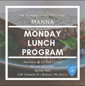 Manna Community Monday Lunch