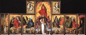 """Rogier van der Weyden, Beaune Altarpiece (""""The Last Judgment), c. 1445-1450; Wikimedia Commons."""
