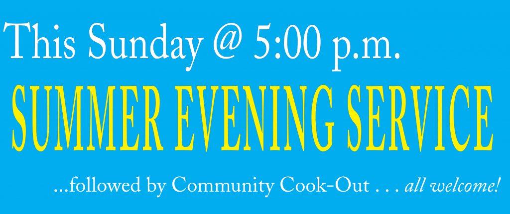 Summer Evening Services Banner